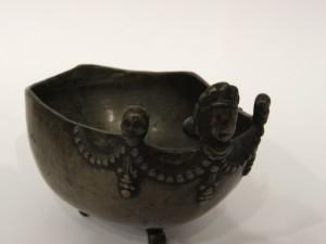 Kapala tibetana in bronzo