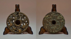 Coppia di antiche monete cinesi