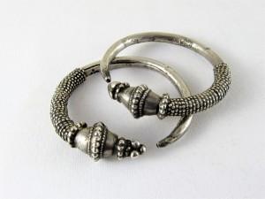 Antichi orecchini pakistani in argento