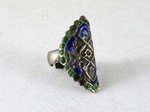 Antico anello islamico smaltato