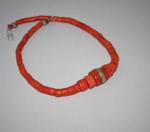 Collana berbera in corallo antico