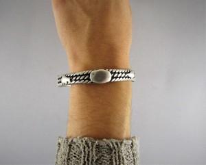 Bracciale berbero in argento intrecciato