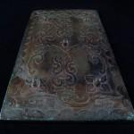 Antico specchio cinese in bronzo