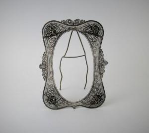 Antica cornice in argento filigrana
