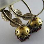 Orecchini etnici in argento dorato