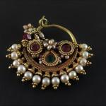 Antico orecchino da naso in oro - Rajasthan