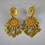 Antichi orecchini indiani in oro - Rajasthan