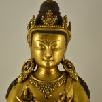 Antica statua tibetana in bronzo dorato - Vajrasattva