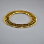 Bracciale indiano in argento dorato
