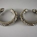 Coppia di bracciali indiani in argento