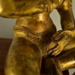 Statua in bronzo dorato di Buddha Avalokiteshvara - Tibet