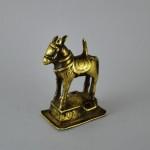 Antica scultura di cavallo in ottone - Maharashtra