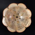 Ciotola in cristallo di rocca con pietre semi preziose