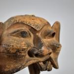Antica maschera in legno laccato - Cina