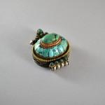 Antico Ghau in argento e turchese - Tibet