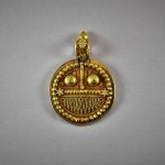 Antico pendente indiano in oro - Gujarat