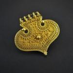 Antico pendente in oro - India del Sud