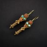 Antichi orecchini in oro - Turkmenistan