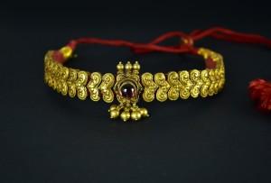 Antica collana matrimoniale in oro - Karnataka - India