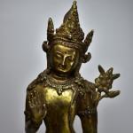 Scultura in bronzo dorato - Avalokitesvara