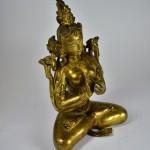 Scultura in bronzo dorato - Tara