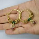 Antichi orecchini in oro - Himachal Pradesh