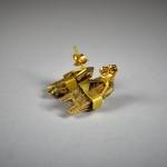 "Antichi orecchini "" Thali "" in oro - India - Tamil Nadu"