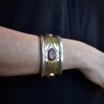 Antico bracciale in argento e corniola - Tekke - Turkmenistan