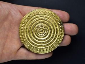 Antico ornamento per capelli in oro - Karnataka - India