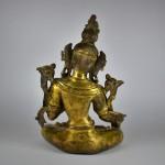 Antica scultura in bronzo dorato - Tara - Tibet / Nepal