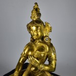 Antica scultura in bronzo dorato - Saraswati - Tibet / Nepal