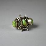 Antico anello islamico in argento e turchese